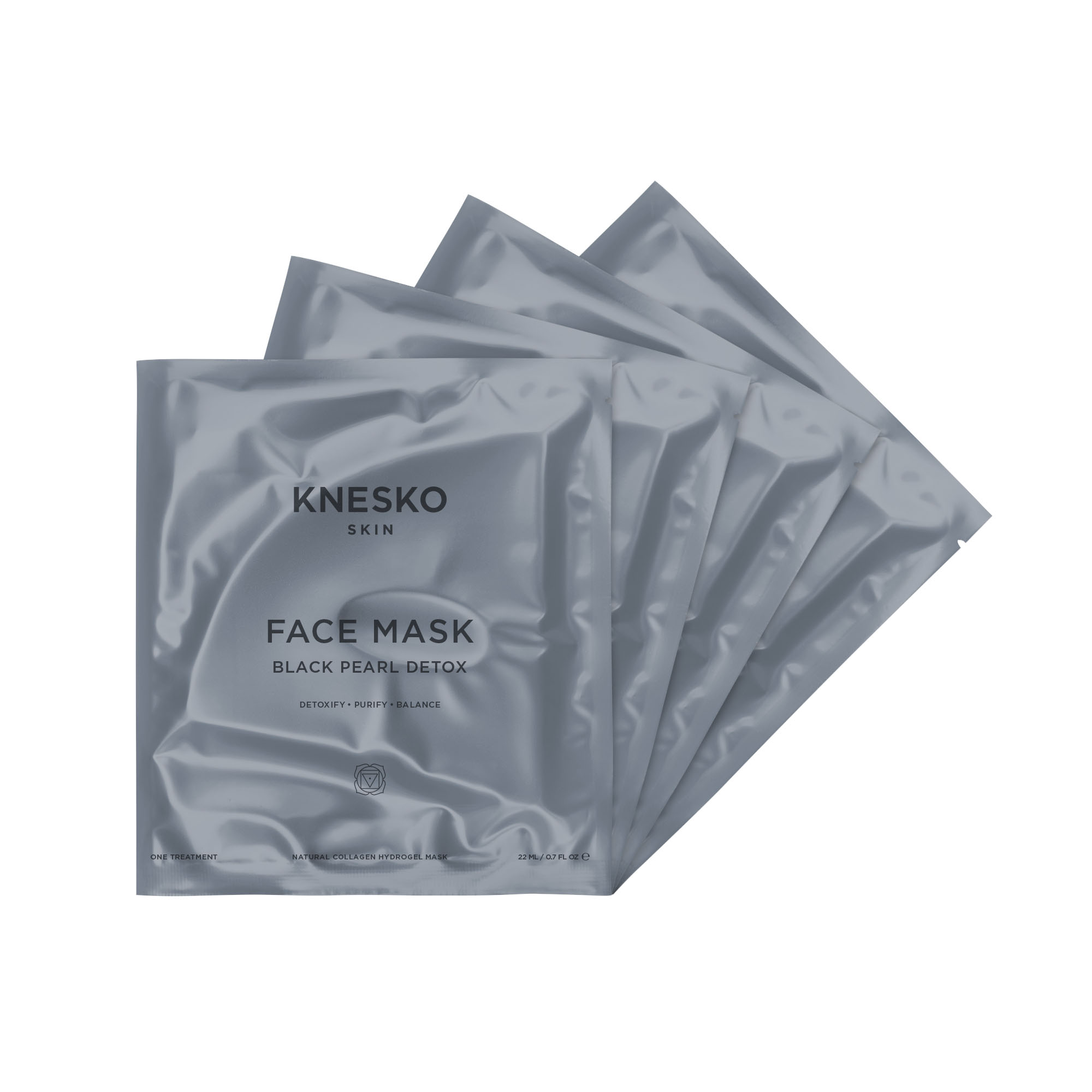 knesko black pearl detox face mask four pack
