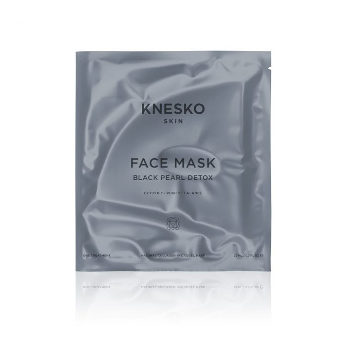 knesko black pearl detox face mask pack