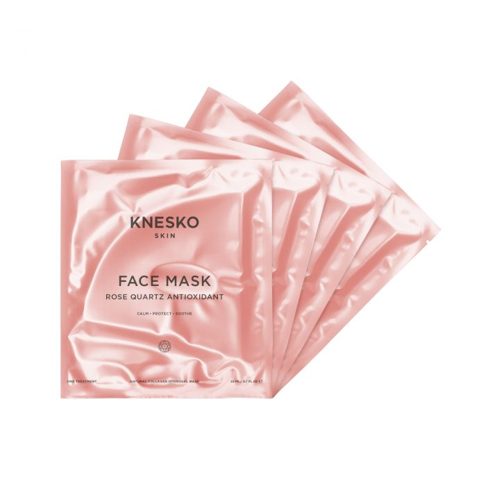 knesko rose quartz face mask four pack