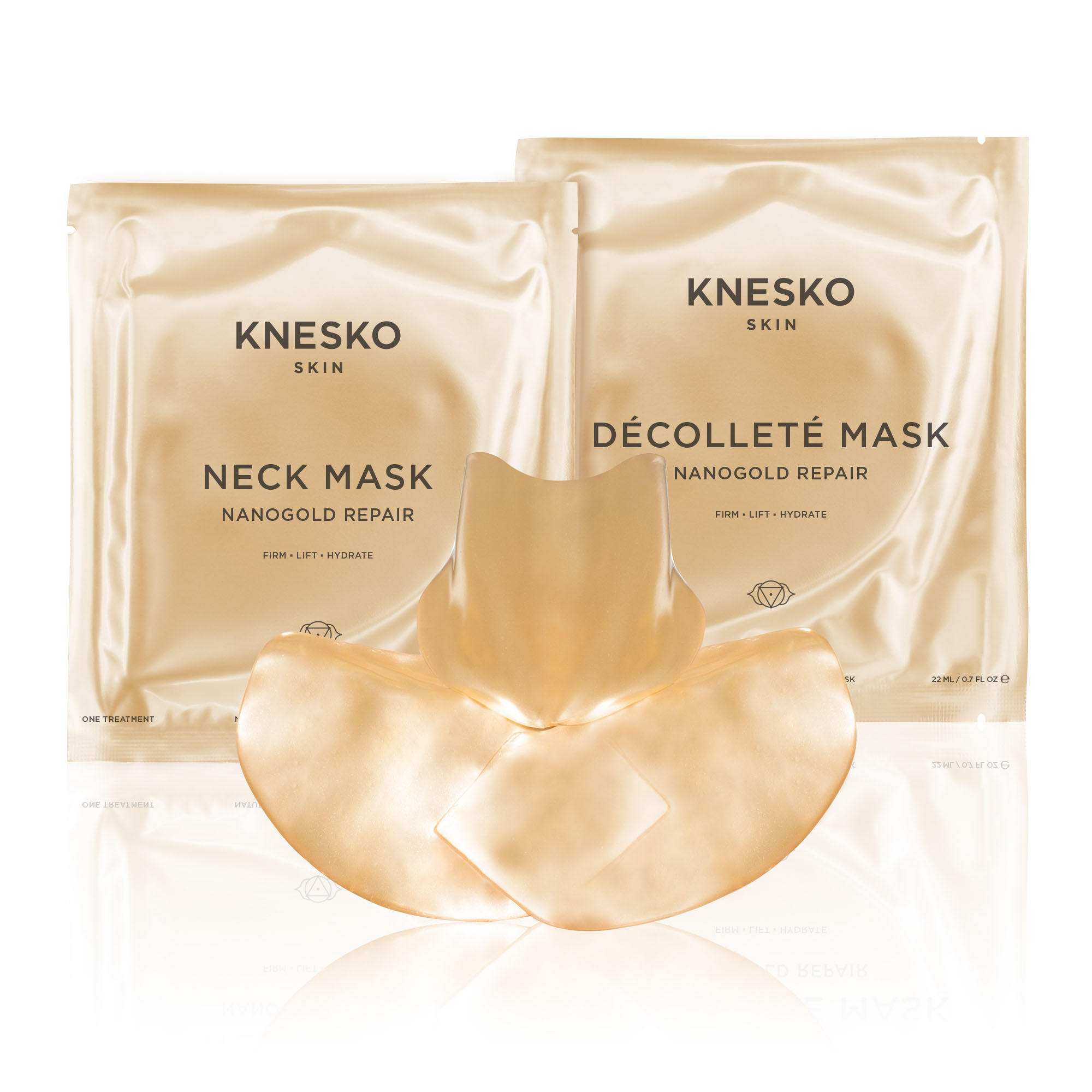 knesko nanogold repair decollete and neck mask